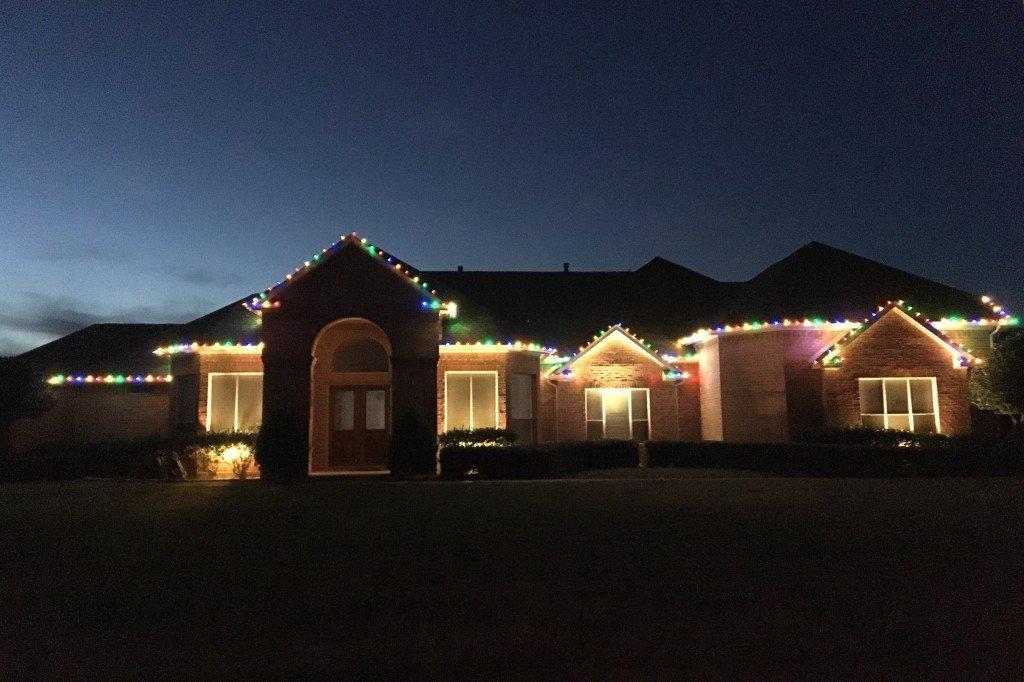 Flower Mound Christmas Light Installation