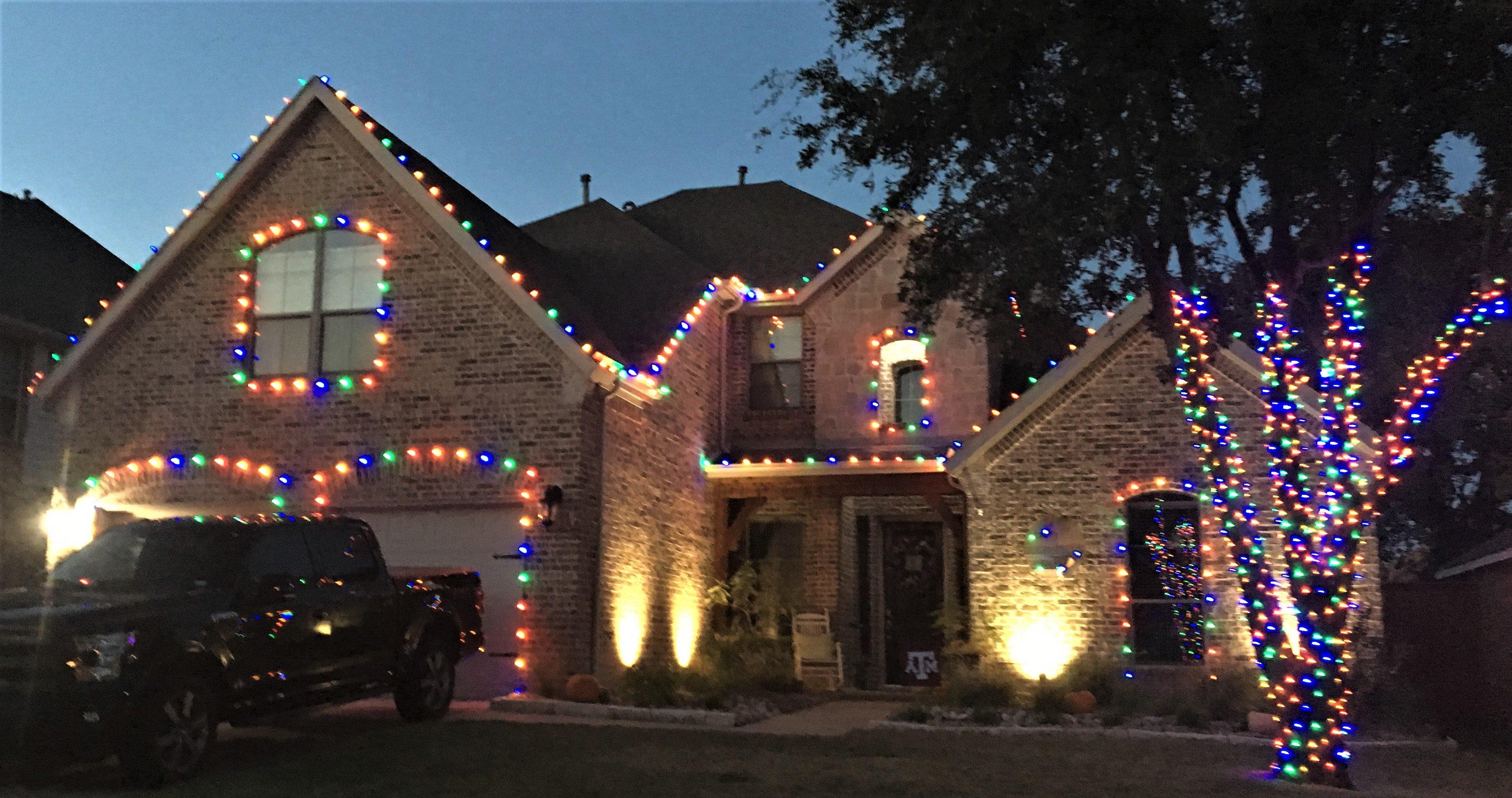 Christmas Light Installation.Hope Landscaping Christmas Light Installation