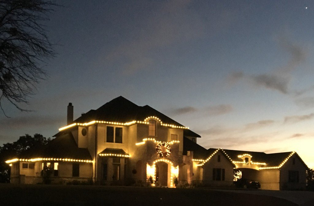 Flower Mound Christmas Light Installation