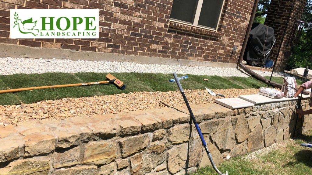 Flower Mound Landscape Stone Work